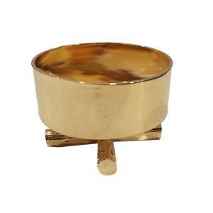 Castiçal dourado pequeno